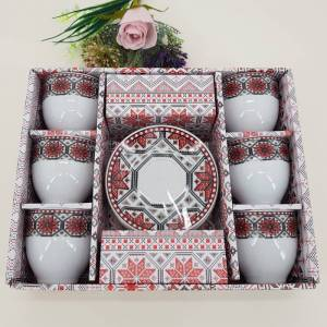 Magazin Traditional Set cafea cu motive traditionale