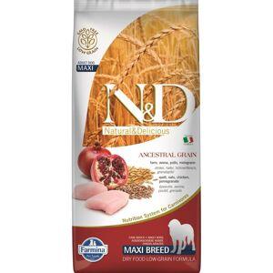 Farmina N&D; Low Grain Chicken and Pomegranate Adult Maxi, 12 kg