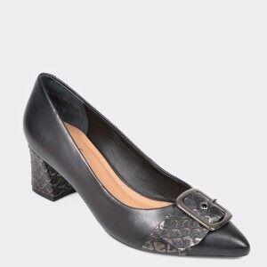 Epica Pantofi EPICA negri, 9686487, din piele naturala