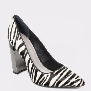 Epica Pantofi EPICA alb-negru, 6812215, din piele naturala
