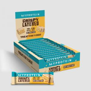 Batoane crocante în straturi - White Chocolate Peanut