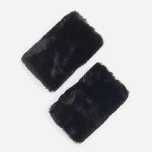 Reserved - Mitene din blană artificială - Negru