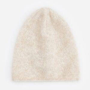 Reserved - Căciulă cu adaos de lână de alpaca - Bej