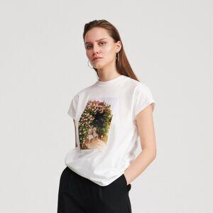 Reserved - T-shirt cu imprimeu - Ivory