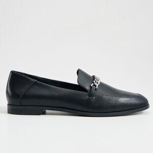 Mohito - Pantofi Lords din piele naturală, cu lanț - Negru