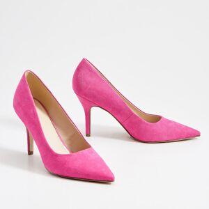 Mohito - Pantofi din imitație de piele întoarsă, cu toc înalt - Roz