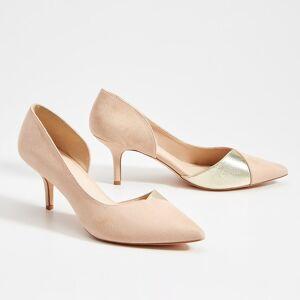 Mohito - Pantofi din imitație de piele întoarsă, cu toc înalt - Ivory
