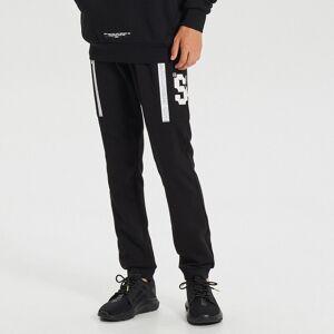 Cropp - Pantaloni jogger cu aplicații în contrast - Negru
