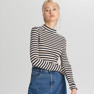 Cropp - Bluză tip maletă - Bleumarin