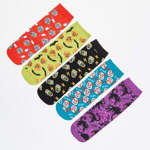 Cropp - Set de 5 perechi șosete colorate - Negru