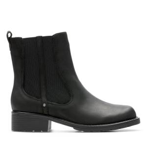 Clarks Chelsea Boots - Orinoco Club Black Leather 41