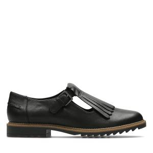 Clarks Flat Shoes - Griffin Mia Black leather 39.5