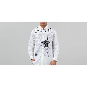 Comme des Garçons SHIRT Comme des Garçons x Jean-Michel Basquiat Long Sleeve Shirt Poplin Print White