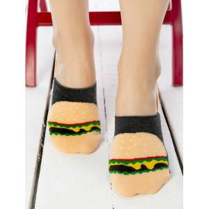Socks Concept Talpici bumbac cu hamburger si silicon Socks Concept SC-1640