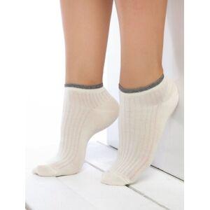 Sosete scurte raiate cu manseta metalizata Socks Concept BRG634