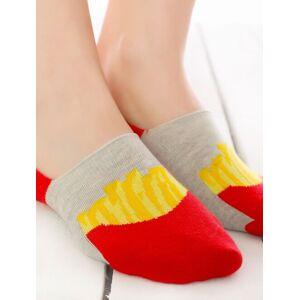 Socks Concept Talpici bumbac cu cartofi prajiti si silicon Socks Concept SC-1632