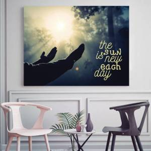 Sun Tablou motivational - The sun is new each day