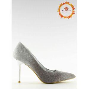 Inello Pantofi eleganti argintii cu toc subtire Miruna