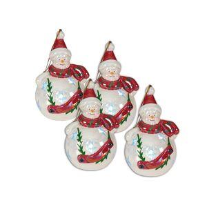 Näve Set 4 decoratiuni suspendabile luminoase Snowman