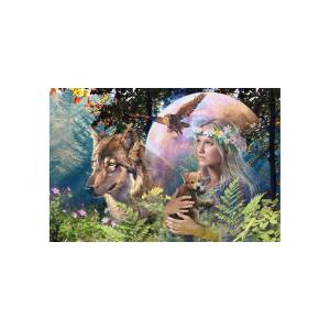 Ravensburger Puzzle Ravensburger - Wolves In The Moonlight, 3.000 piese (Ravensburger-17033)