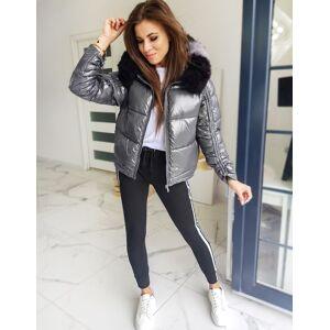 DStreet Women's quilted jacket SEPHIA dark gray TY1448 Neurčeno XXL