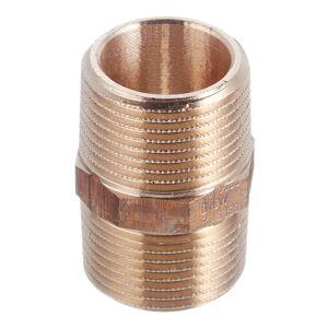 Ниппель Viega (266615) 3/4 НР(ш) х 3/4 НР(ш) двойной бронзовый