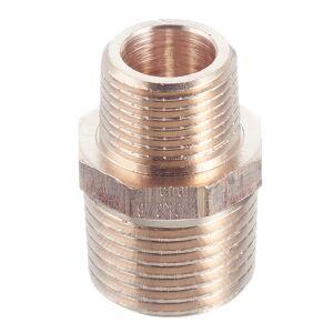 Ниппель переходной Viega (266530) 1/2 НР(ш) x 3/8 НР(ш) бронзовый