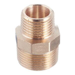 Ниппель переходной Viega (266523) 1/2 НР(ш) х 3/4 НР(ш) бронзовый