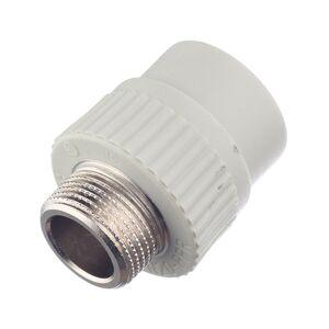 Муфта полипропиленовая FV-PLAST (215025) 25 мм х 3/4 НР(ш) серая