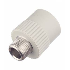 FV-PLAST Муфта полипропиленовая FV-PLAST (215025Е12I/215026) 25 мм х 1/2 НР(ш) серая