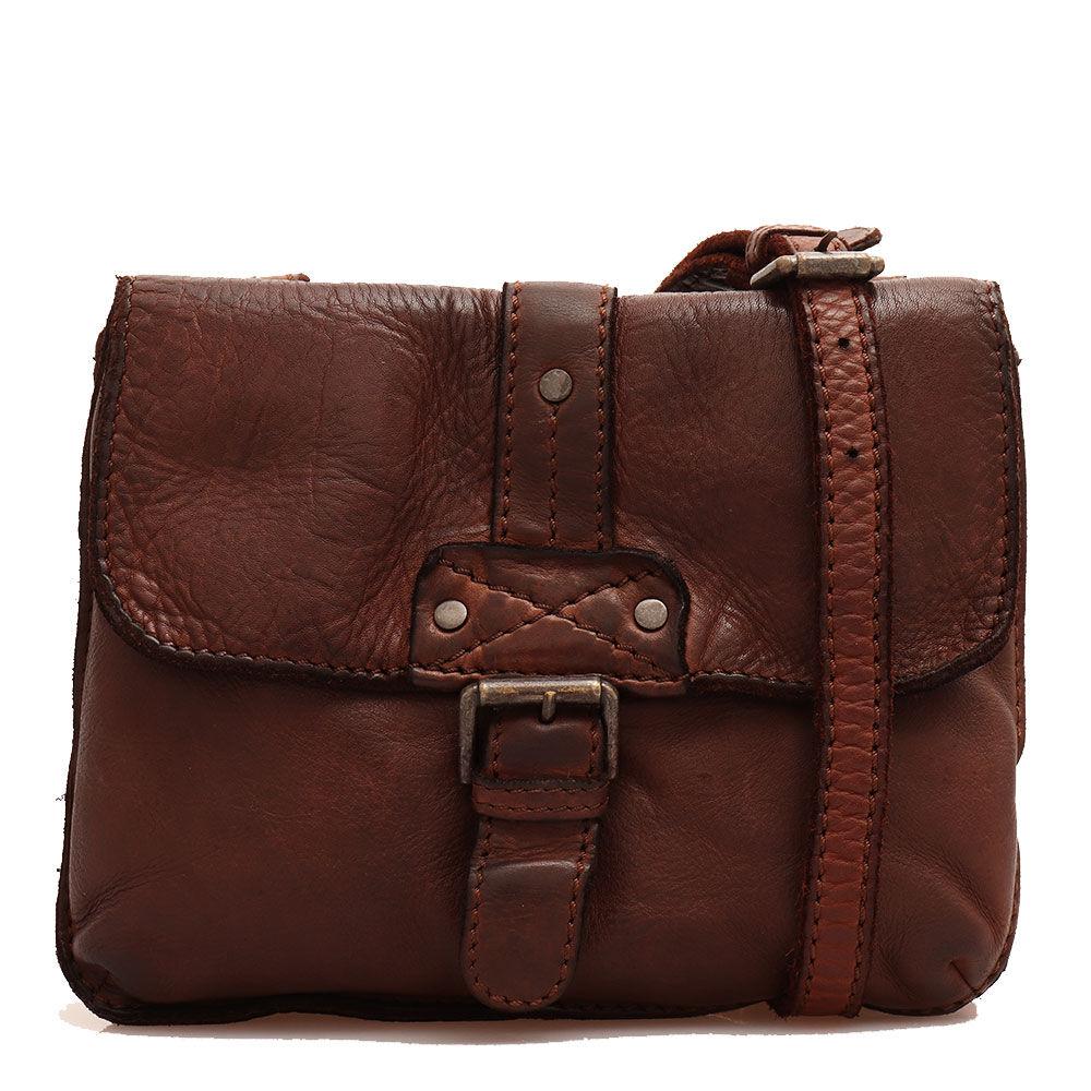 Gianni Conti Женская сумка через плечо из гладкой, шоколадной кожи - Gianni Conti