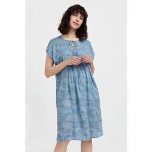 свободное платье с цветочным принтом