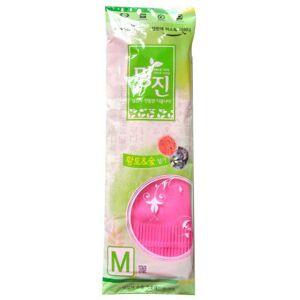 "MyungJin ""RUBBER GLOVE MYUNGJIN"" Перчатки латексные хозяйственные удлинённые, с манжетой, размер M."
