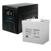 Комплект ИБП Инвертор Энергия ПН-1000 + Аккумулятор 55 АЧ