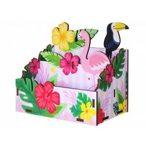 Сборная модель Орландо Органайзер с печатью Фламинго 009004лзр077