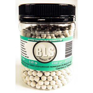 Шарики пластиковые BLS 0.25g 6mm 1000шт White
