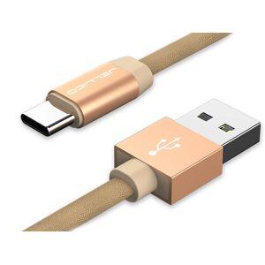 Аксессуар Jellico YC-15 USB - USB Type-C 1m Gold