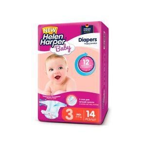 Подгузники Helen Harper Baby Midi 4-9кг 17шт 2313380
