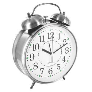Часы Эврика CBS001-003C10 - Часы Будильник Гигант Nickel
