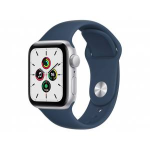 Умные часы APPLE Watch SE 40mm Silver Aluminium Case with Abyss Blue Sport Band MKNY3RU/A