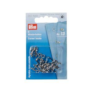 Крючки и петли для корсетов Prym №13 6шт Silver 261550