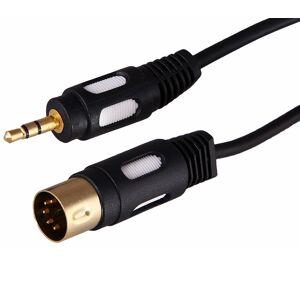 Кабель Rexant DIN 5PIN Plug - 3.5mm Stereo Plug 1.5m Gold 17-2502