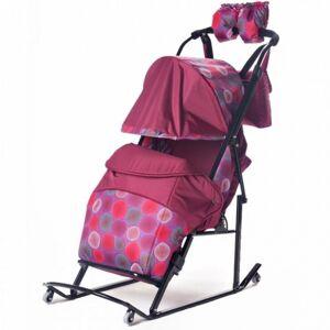 Kristy Санки-коляска Kristy Comfort Plus 3B BK