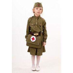 Пуговка Карнавальный костюм Военная медсестра Патриоты