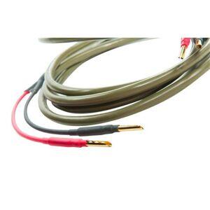 Ecosse Cables MS2.3 Monocrystal med banankontakter 2 x 3 meter Grön