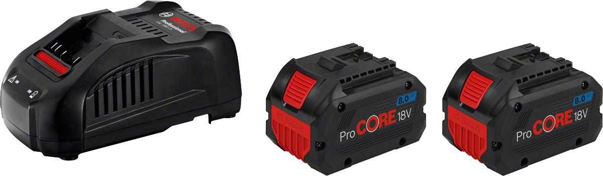 Bosch Batteri & Snabbladdare Startpaket Procore 18v Med 2st 8ah & Gal1880