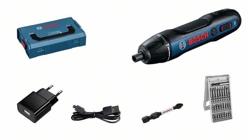 Bosch Skruvdragare Bosch Go 3,6v L-Boxx Mini 25 Delars Skruvbitsats
