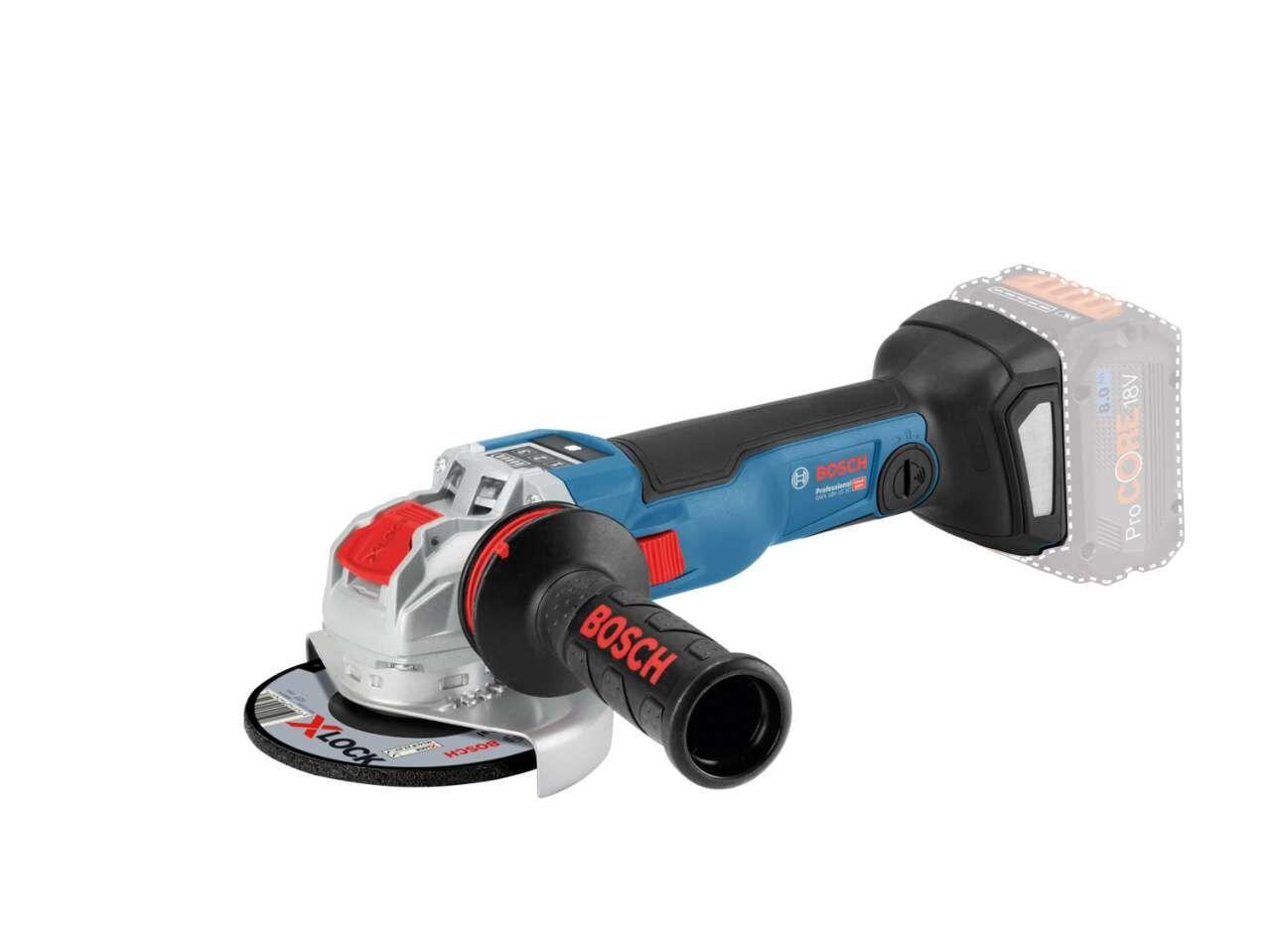 Bosch Vinkelslip Gwx 18v-10 Sc Professional Med 2st 8ah Procore Batteri & Laddare I L-Boxx