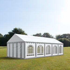 taltpartner.se Partytält 4x10m PVC 500 g/m² grå-vit vattentät