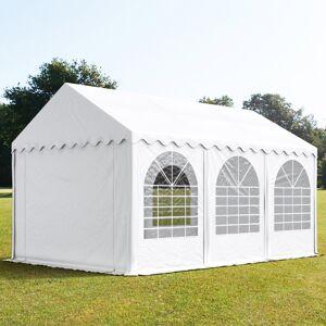 taltpartner.se Partytält 4x6m PVC 550 g/m² vit vattentät